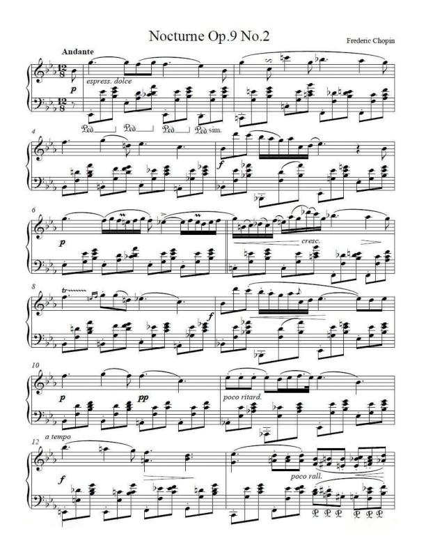 Chopin Op 9 No 2 Original Version