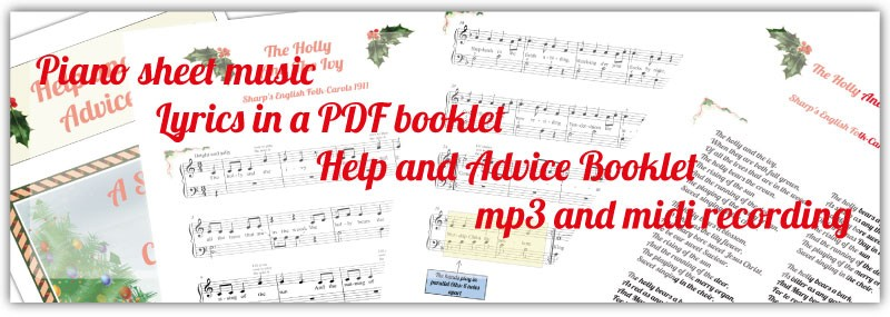 Sheet music package includes