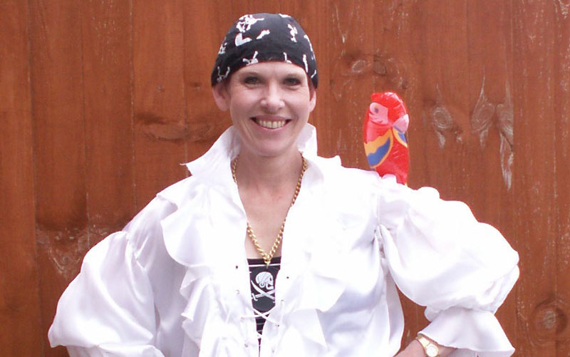 Andrea with Parrot for Pirates show