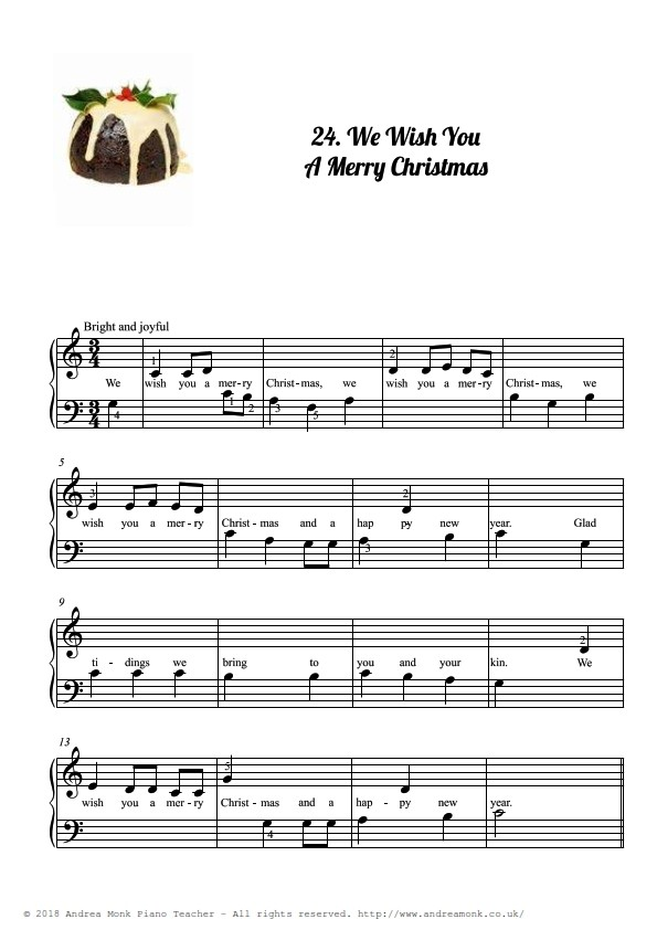 Beginner Piano Christmas Carols page 26