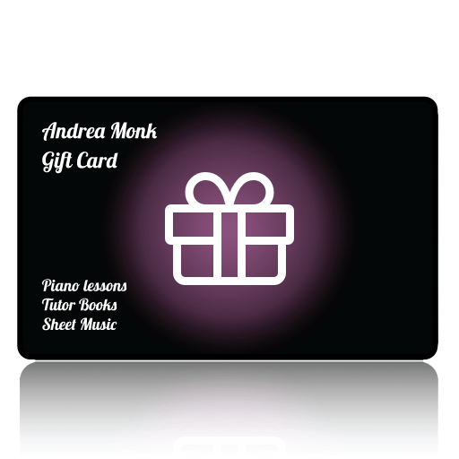 Andrea Monk sheet music Gift Card